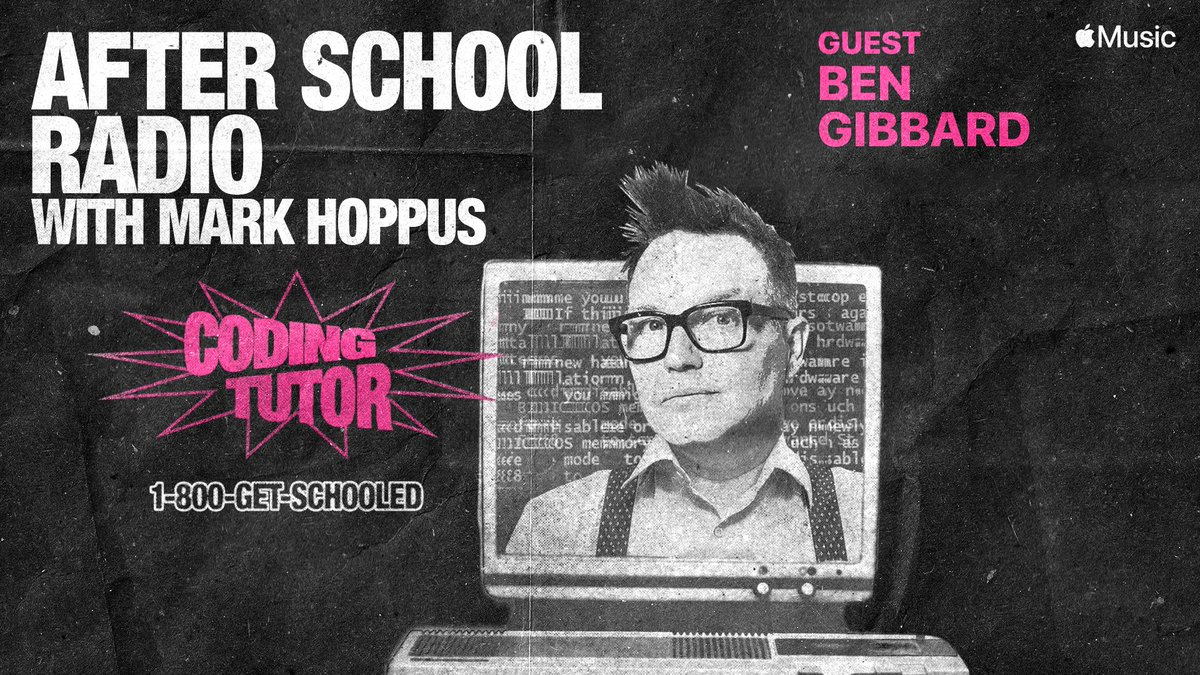Ben is on this week's #AfterSchoolRadio with @markhoppus! Listen now on @AppleMusic: