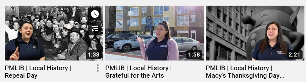 Check out Colleen's local history videos -- recent topics include #MacysThanksgivingParade @ArtspacePatch and the Repeal of Prohibition!