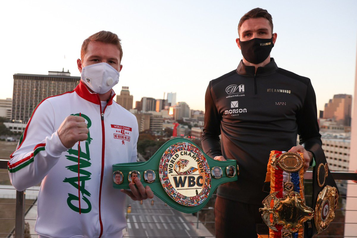 First face off done.   Roll on Saturday night 🇬🇧👑   .@DAZNBoxing #CaneloSmith