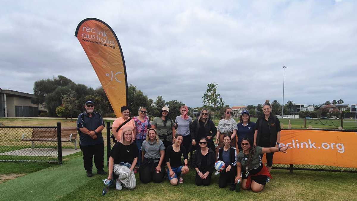 It was a great day today at the Reclink cricket & footy multi-sports day in Melbourne! Thank you to everyone who attended.   #reclink #reclinkaustralia #sport #recreation #cricket #footy #football #getactive #afl https://t.co/JYlv1BOs5n