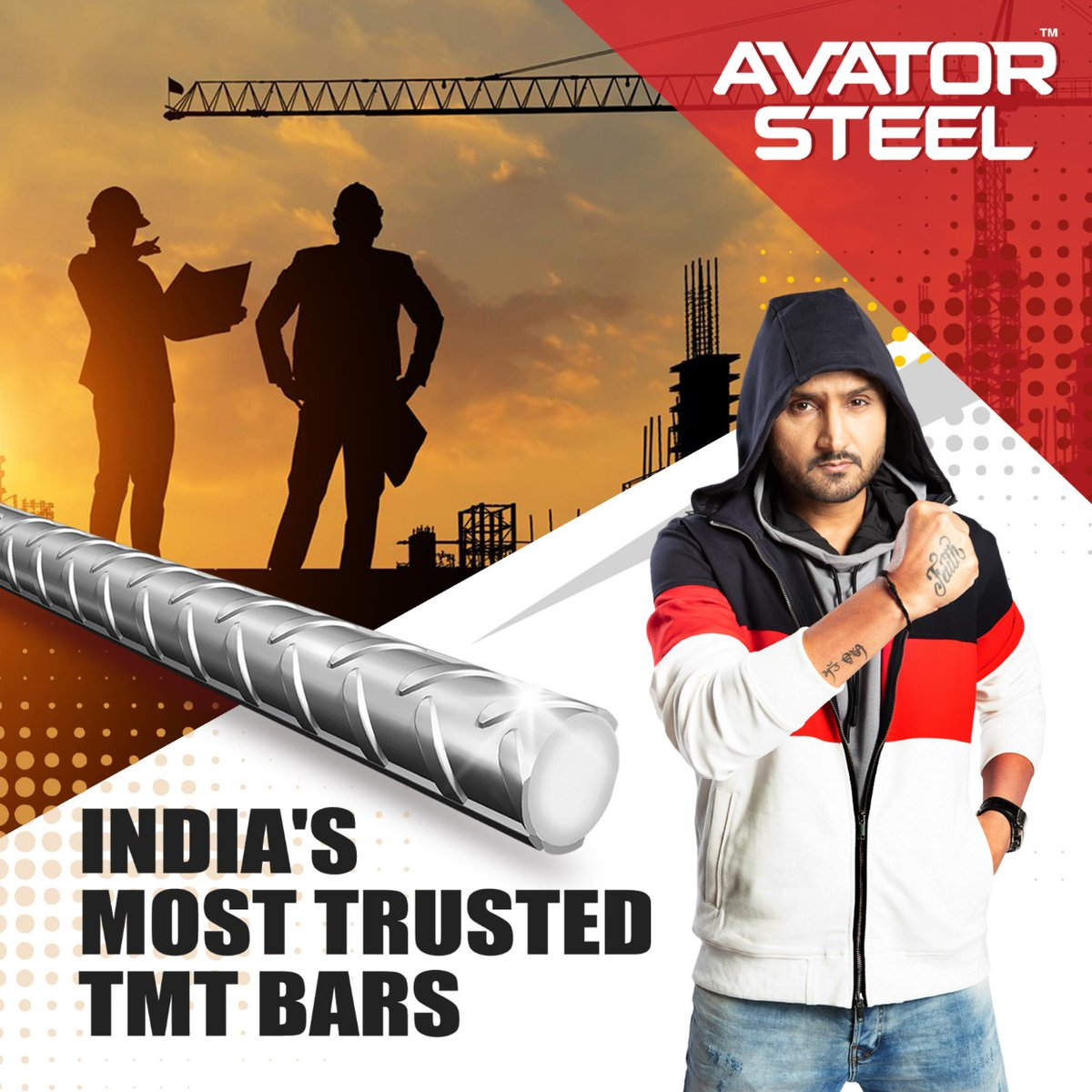 #AvatorSteel TMT bars are the no. 1 choice of builders all across India because of their superior properties.  When you build your dream home, always choose the best.   #HarbhajanSingh #rustproof #earthquakeproof #FireResistant  @harbhajan_singh