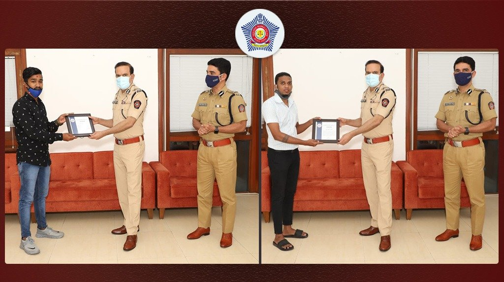 Two citizens were of great help in cracking the case by coming forward to report suspicious activity of the accused and even testified in court. They were felicitated by @CPMumbaiPolice and Jt.CP (Law and Order) Vishwas Nangre Patil for their presence of mind.  #MumbaiCaseFiles
