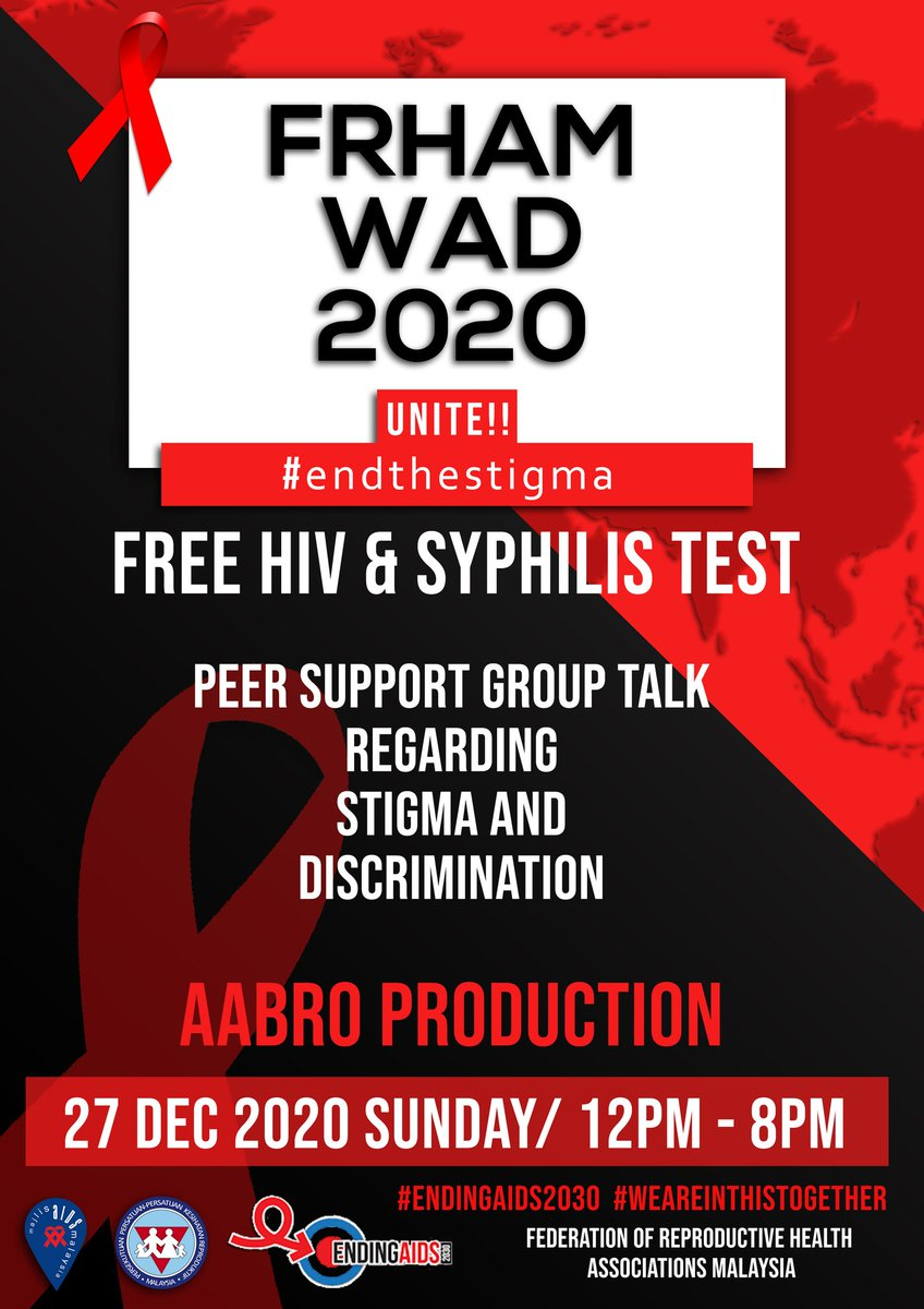Hi gaiss... Yg nak join PSG & CBT yg bersempena WAD nti, kami sgt alu²kan pada 27 December nti. Mane yg nak join PSG/CBT atau kedua²nya sekali bole dm akk di tele  utk lock slot  korang.  #knowyourstatus #EndingAIDS2030 #getfreetested #WorldAIDSDay2020