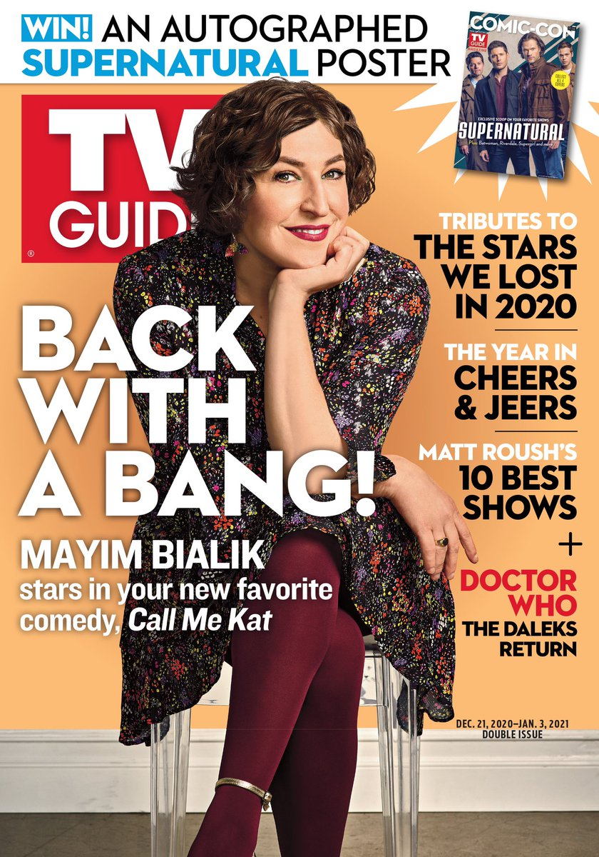 Thank you for the awesome cover feature @TVGuide!! #CallMeKat is coming to your TV screens in just a couple weeks!
