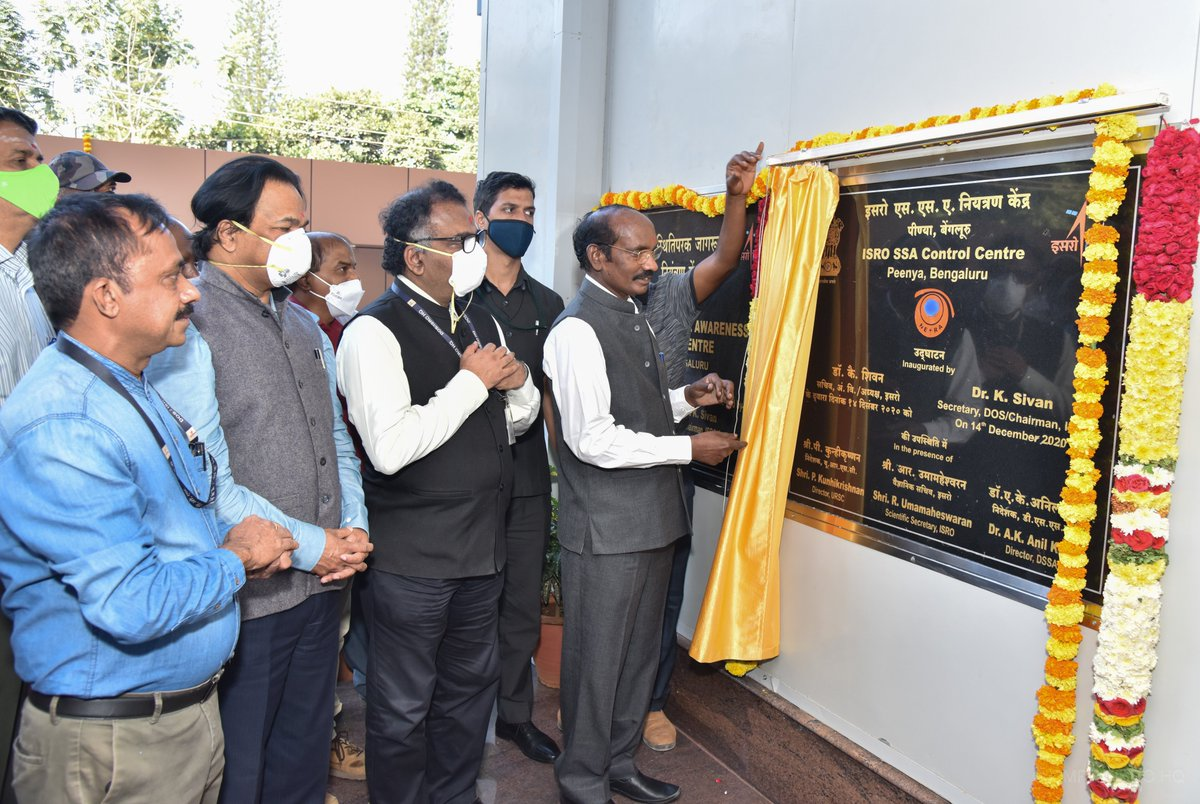 ISRO Space Situational Awareness (SSA) Control Centre was inaugurated by Dr. K. Sivan. This control centre will function as a hub of all SSA activities within India.  Learn more at