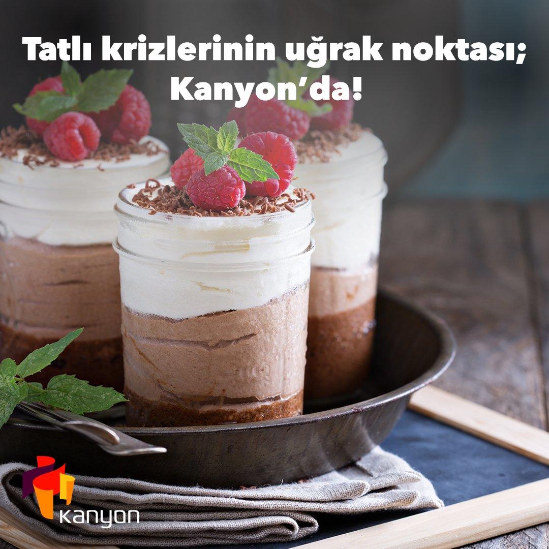 Nerede tatlı yiyeceğinize bir türlü karar veremiyorsanız birbirinden lezzetli ve tatlı alternatifler Kanyon'da sizi bekliyor. Uğrayıp tatlınızı almayı unutmayın.   #işgyo#isgyo#kanyon#levent#kanyonda https://t.co/CjMklx6xeX