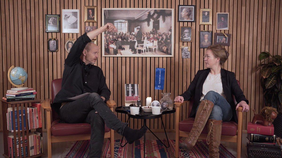 Litt selskap til hjemmekontorlunsjen? Se den underholdende samtalen mellom @anineki og Harald Eia fra lanseringen av «Rett frem» i går kveld: https://t.co/G3Tq9aJ8BL. God fornøyelse! https://t.co/n6E2SmtYen