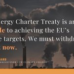 Image for the Tweet beginning: Energy Charter Treaty #ECT reform