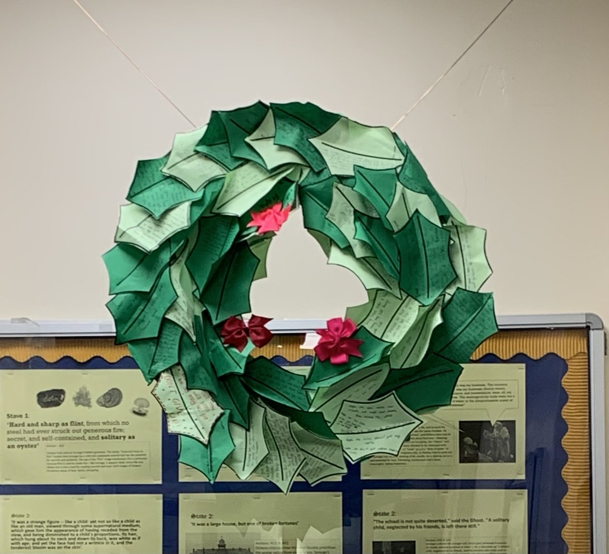 Advent is a very important time in the Liturgical Calendar and in our community; it is a time of preparation and celebration for the birth of Jesus Christ. We took this as an opportunity to create wreaths with messages of hope and joy to emphasise the real meaning of Advent