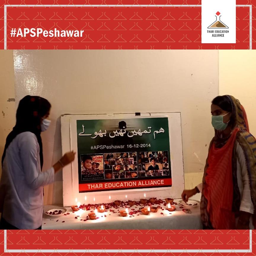 شہداء آرمی پبلک اسکول پشاور کی یاد میں چمپیئن فار چینچ کی رضارکار لڑکیوں نے الائنس آفس میں دیئے جلا کر شہداَء کو خراج تحسین پیش کیا اور تصاویر پر بھول نچھاور کیئے. #CfC #Championsforchange