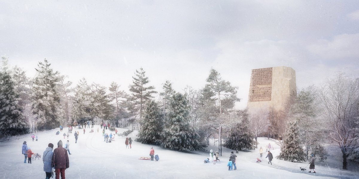 Snowy days like today make us excited for the future Obama Presidential Center's Great Lawn—a perfect place for sledding in the winter.   Have you been following our plans? Find out more at: