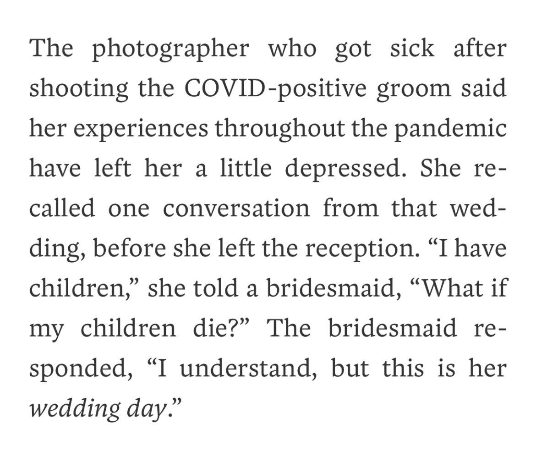 Replying to @KaraRBrown: Honestly truly, ban weddings