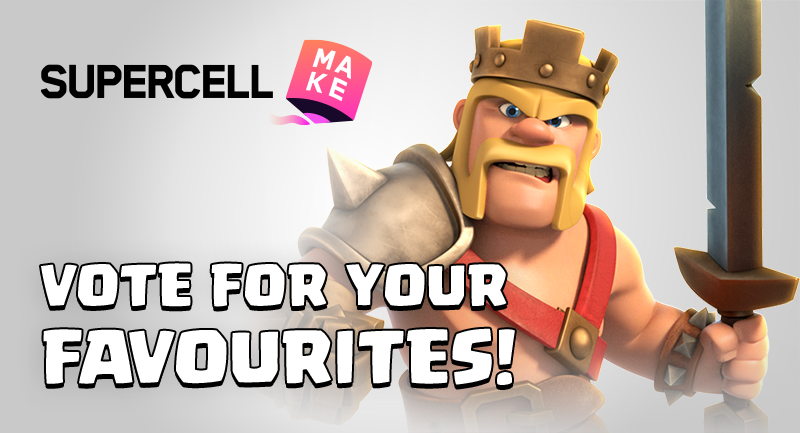 Clash Of Clans On Twitter Clash Of Clans Has Arrived To Supercell Make And The First Two Campaigns Are Live Right Now Take On The Challenge Of Creating Hero Skins And Sceneries