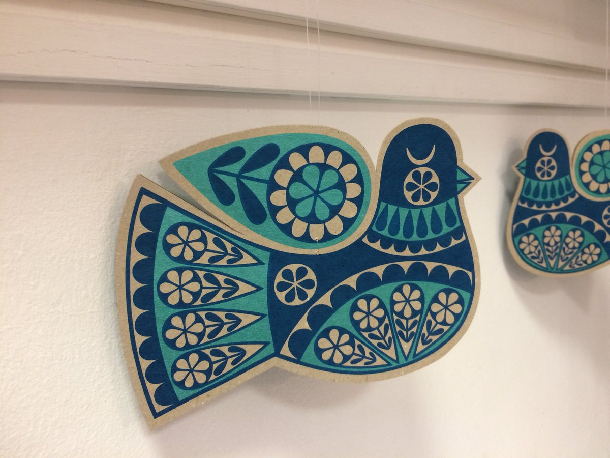 Braved the rain & delivered more work to the @rbsagallery. They have #folkbird & #angel decorations, lots of my tote bags & #greetingscards including the last few angel cards! Lovely artwork, ceramics, textiles & jewellery too & plenty of room for #covidsafe #christmasshopping. https://t.co/hAG2GT8Pgi