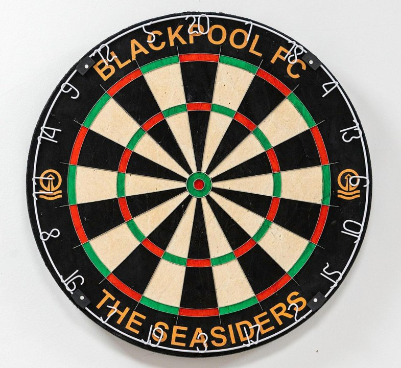 Hit The Bullseye With This New Blackpool Fc Dartboard Featuring Tower Power Logos Football Addict