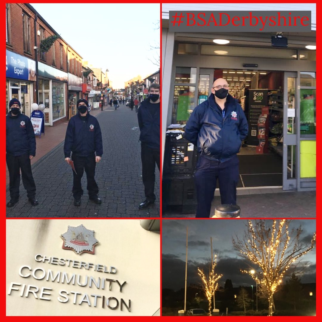 #BSADerbyshire visiting Ripley &Chesterfield as part of the Christmas Business Safety Campaign🎄