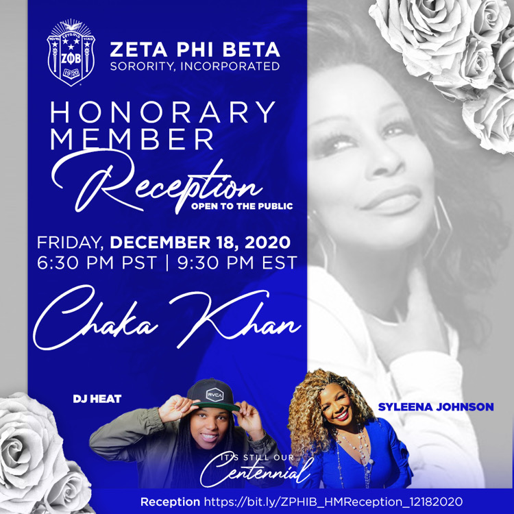 Join us at our honorary member reception on Friday December 18, 2020.   💙💙💙💙💙🕊 #zetaphibeta #zphib #zphib2020