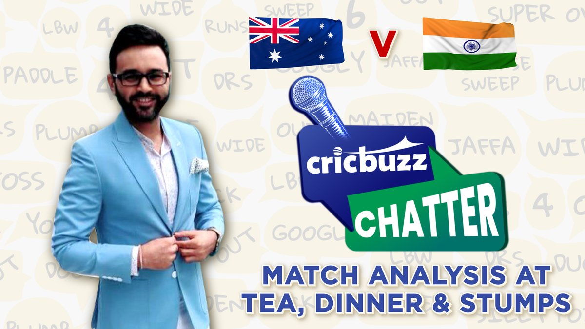 #Australia and #India slug it out on Day 1 of the Pink Ball Test. @parthiv9 will be here to talk about the proceedings, at every session break, only on Cricbuzz Chatter  Send in your questions using #CricbuzzChatter and get featured on the show  #AUSvIND