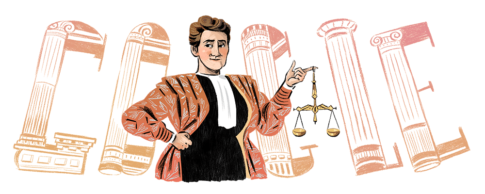 Who was Marie Popelin?  A Belgian educator & feminist icon who became a leading pioneer in the struggle for gender equality & the 1st woman to attain a law degree in her home country 🇧🇪  #GoogleDoodle 🎨 by guest artist Emilie Timmermans →