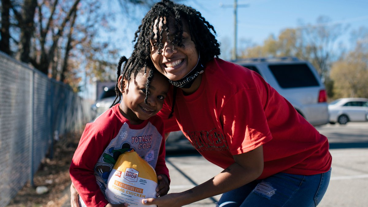 """""""I thought (food pantries) were for people who were less fortunate, but anybody could be less fortunate in a day or in a second."""" -Courtney  Learn why more people are facing hunger for the first time in 2020:"""