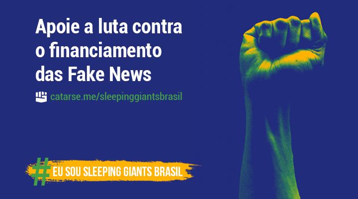 Nos obrigaram a sair do anonimato e agora precisamos da sua ajuda para que o Sleeping Giants Brasil continue tirando o sono de quem ganha dinheiro com discurso de ódio e fake news.  Acesse e apoie! 👉🏽https://t.co/ldMOh452Cz https://t.co/XNFirYCjzC