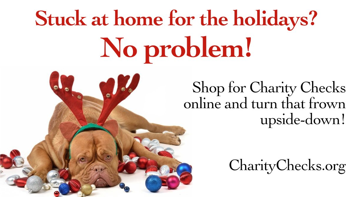 Not leaving the house these days? Order Charity Checks online and turn some frowns upside-down!  #2020gifts #holidaygifts #Christmasgifts #gifts2020 #presents #Christmas2020 #payitforward #employeegifts #giftsforkids #grandkidgifts #RedefineGifting