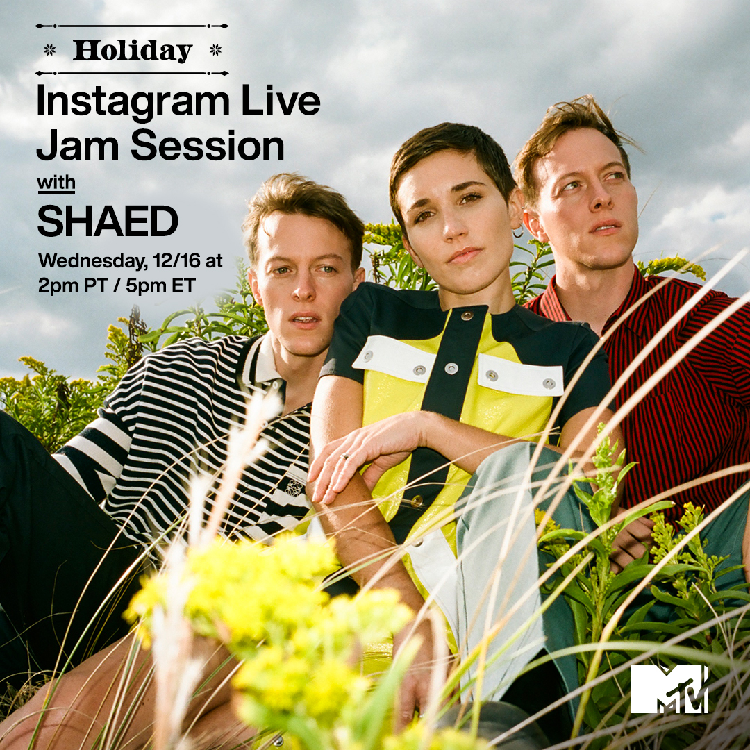 'Tis the season to join @shaedband for a Holiday #MTVJamSession! ❄️   Catch them on MTV's IG Live TODAY at 2p PT / 5p ET. ✨