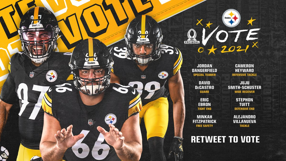 You have until 11:59 p.m. to RT this to #ProBowlVote!  @Dangerfield__ #DavidDeCastro @Ebron85 @minkfitz_21 @CamHeyward @TeamJuJu @DOCnation_7 #AlejandroVillanueva