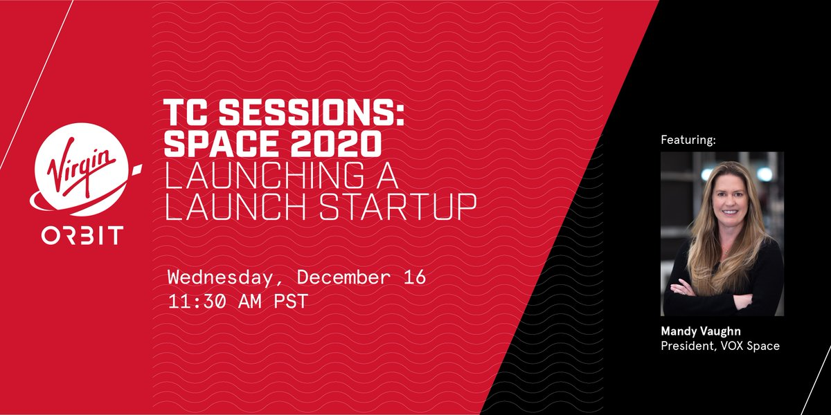 """.@TechCrunch's TC Sessions kick off today, and we're hoping you'll join us for the """"Launching a Launch Startup"""" panel, where VOX Space President @mandy_vaughn will share some of her experiences spearheading an exciting new space startup. Don't miss out!"""