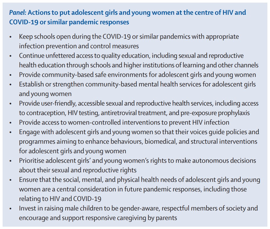In 2019 girls and women made up almost 50% of the 38 million people living with HIV. Ending #AIDS by 2030 requires that we address girls' and women's diverse roles by putting them at the centre of the #HIV response. Ameena Goga et al. Comment: