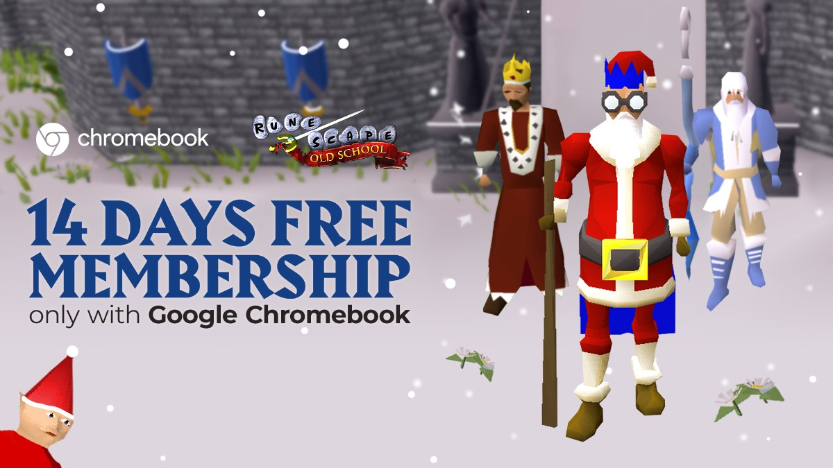 Osrs 2021 Christmas Old School Runescape On Twitter Calling All Chromebook Users Christmas Has Come Early We Ve Teamed Up With Google To Give You 14 Days Of Membership Redeem Your