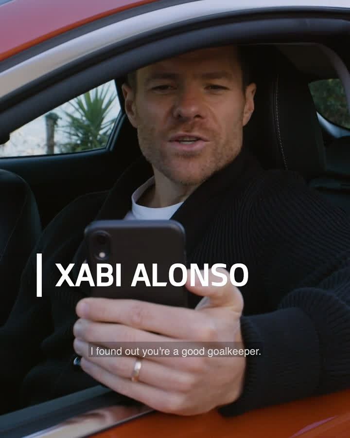 💪 @XabiAlonso's #KiaChargeUp challenge ⚽️  🛑 Can @cachoo01? stop these rockets? 🚀  #ChargeUpTheFans 🔋