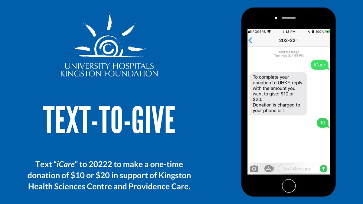 test Twitter Media - There's still time to make an impact this year. Text iCare to 20222 to make a one-time donation of $10 or $20. Donations will support KHSC and Providence Care. Donations are processed quickly with the donation charged on the donor's phone bill. Thank you for your support! https://t.co/1MBRrpVW1u
