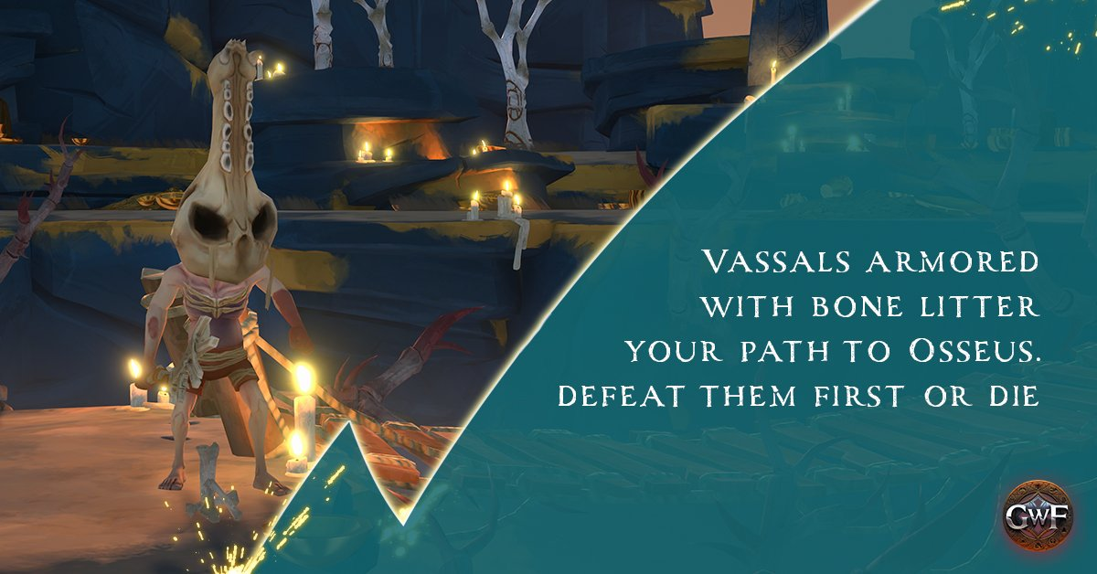 Osseus' vassals roam the realm, waiting to obstruct your path to him.  They're kinda beautiful if you squint.  #GWF #GodSlayers