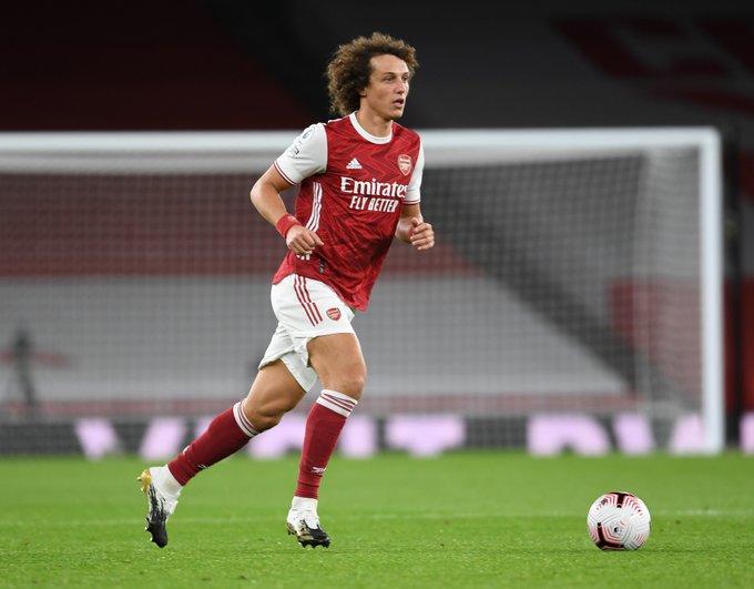 David Luiz in action at the Emirates