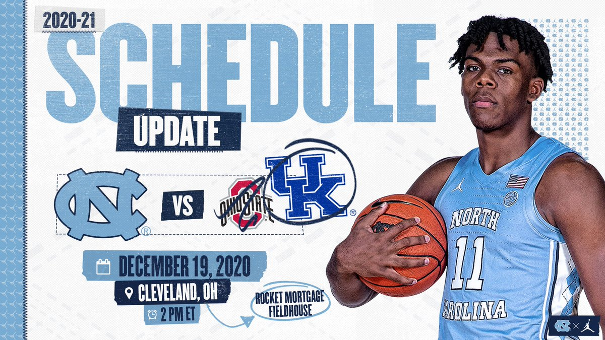 Carolina Basketball On Twitter Schedule Update 𝗦𝗮𝗺𝗲 𝗽𝗹𝗮𝗰𝗲 𝗢𝗿𝗶𝗴𝗶𝗻𝗮𝗹 𝘁𝗶𝗺𝗲 𝗗𝗶𝗳𝗳𝗲𝗿𝗲𝗻𝘁 𝗼𝗽𝗽𝗼𝗻𝗲𝗻𝘁 Carolina Kentucky At 2 00 Pm Et In The Cbs Sports Classic This Saturday Carolinafamily Https T Co