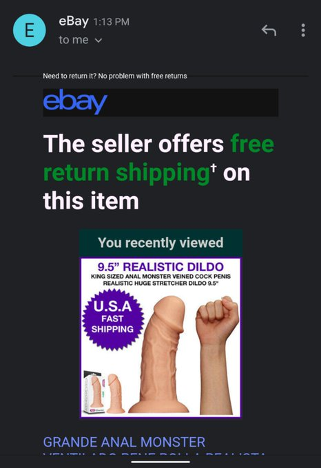 Okay but why tho ebay 😳 Meanwhile don't ask questions about why this is in my email 🤷🏿♂️ https://t.