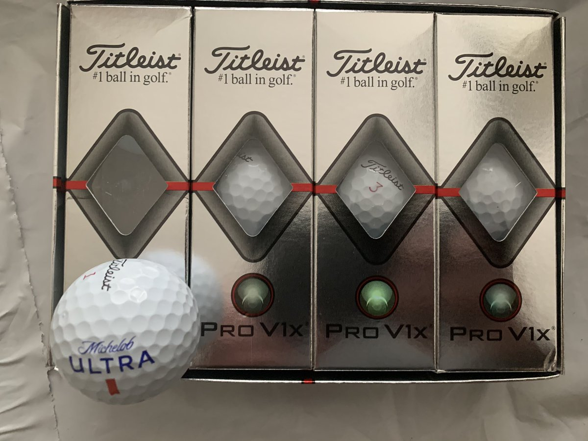 Thank you @MichelobULTRA for the golf balls from #thematch3 and of course @tntsircharles for hitting some golf balls in the water