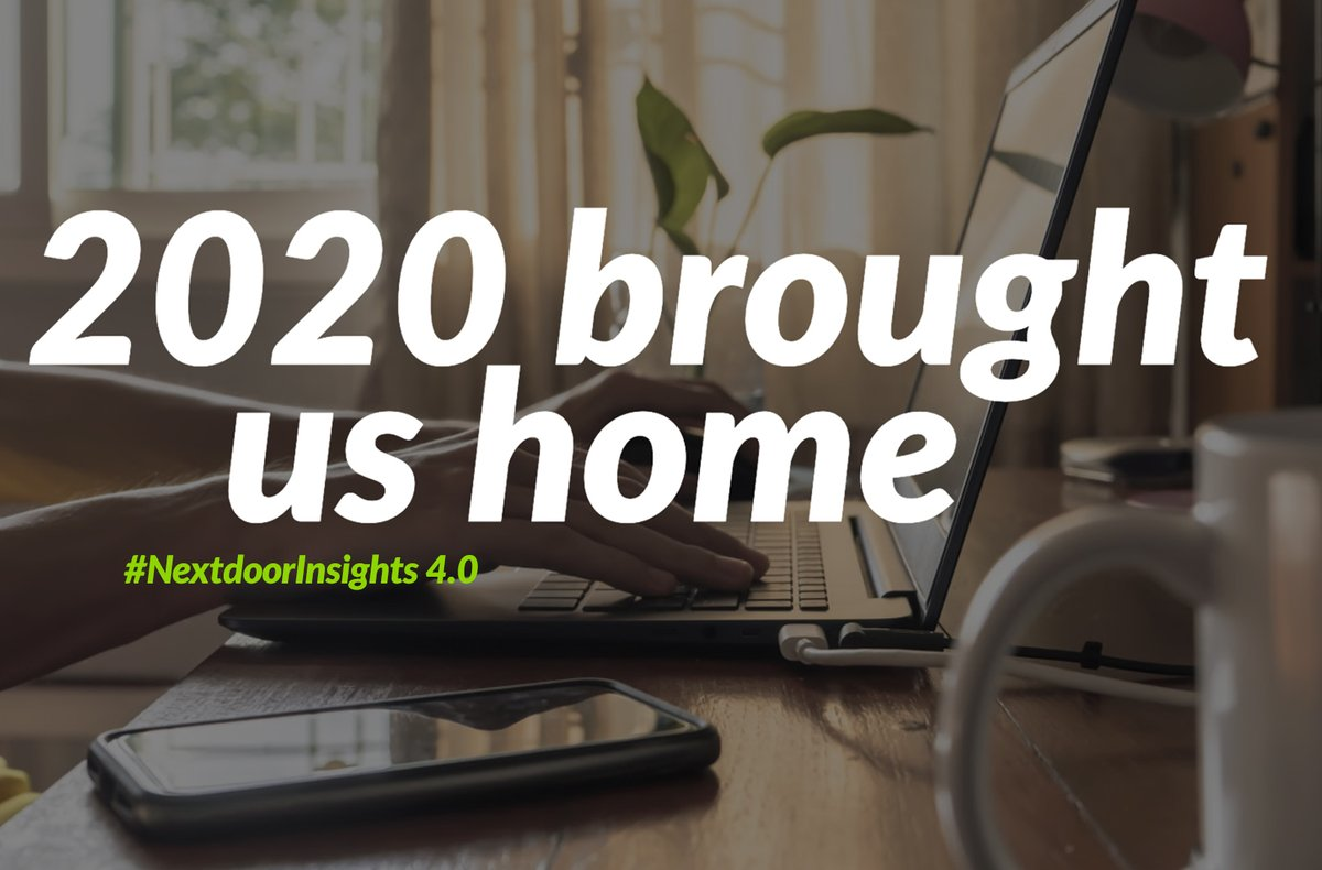 2020 has not been easy, but it's been a year where local has never mattered more. Our latest #NextdoorInsights report highlights movers, growth in community groups, increased stress and loneliness, and a focus on local businesses.