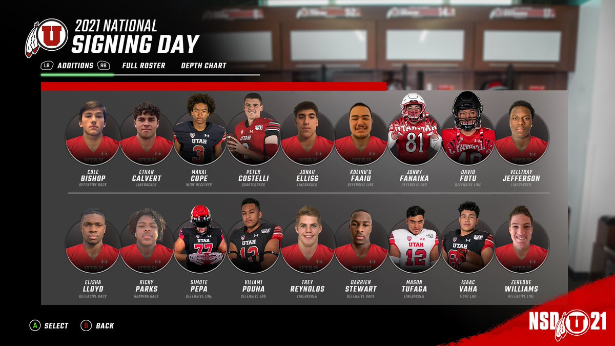 An impressive group of guys, each one with a tremendous upside. Looking forward to getting to work with the class of 2021. #UBoyz