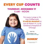 Hey chicago peeps get your cup of coffee tomorrow from @dunkindonuts and support my friends @LurieChildrens @1035KISSFM #EveryCupCounts #lurieradiothon