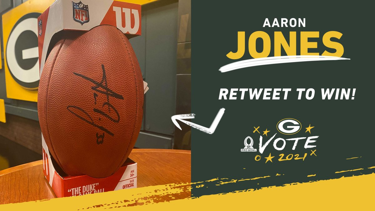 RT for a chance to win this @Showtyme_33 signed football! 🏈✍️  #ProBowlVote  @AaronRodgers12 @jswaggdaddy @tae15adams @MVS__11 @AllenLazard @RobTonJr @MarcedesLewis89 @DavidBakhtiari @Big_Mountain77 @Big_E_14 @lucaspatrick62 @Linsley71 #RickWagner  Rules: