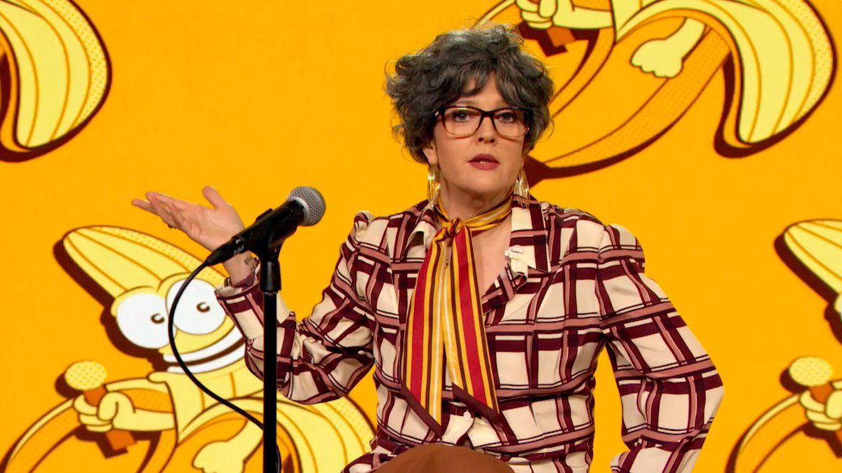 Welcome to Bananamore's Virtual Comedy Club! 🍌 Get to know our owner Mitzy before you head inside:
