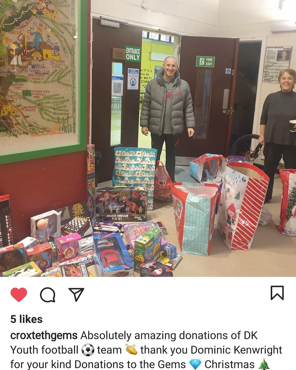 Thank You to all the parents and anyone that supported our toy appeal. Its a great feeling knowing more kids will get a toy this Christmas. ⚽️⚽️⚽️🎄🎄🎄