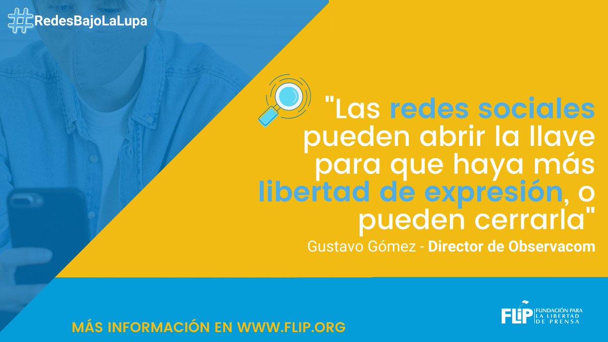 🔴Estamos en vivo en #RedesBajoLaLupa hablando de las reglas comunitarias de las redes sociales y sus efectos para la libertad de expresión.  🗣️Esto afirmó Gustavo Gómez, director de @Observacom 👇🏽