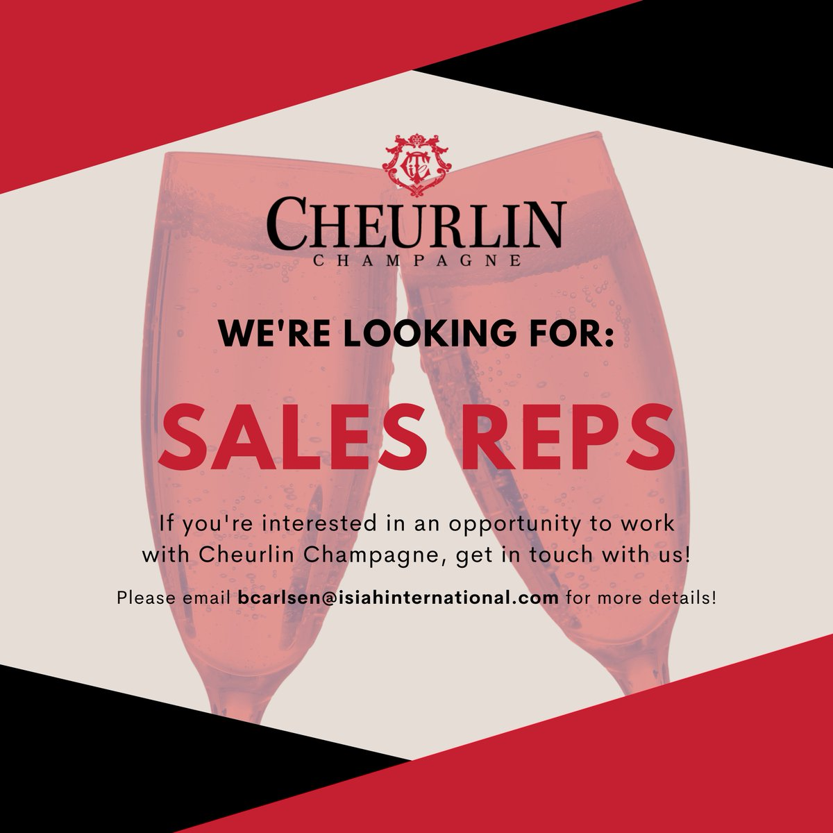 We're looking to expand our Cheurlin team in various states! If you're interested & think you might be qualified as a sales rep, please email us! #Cheurlin1788