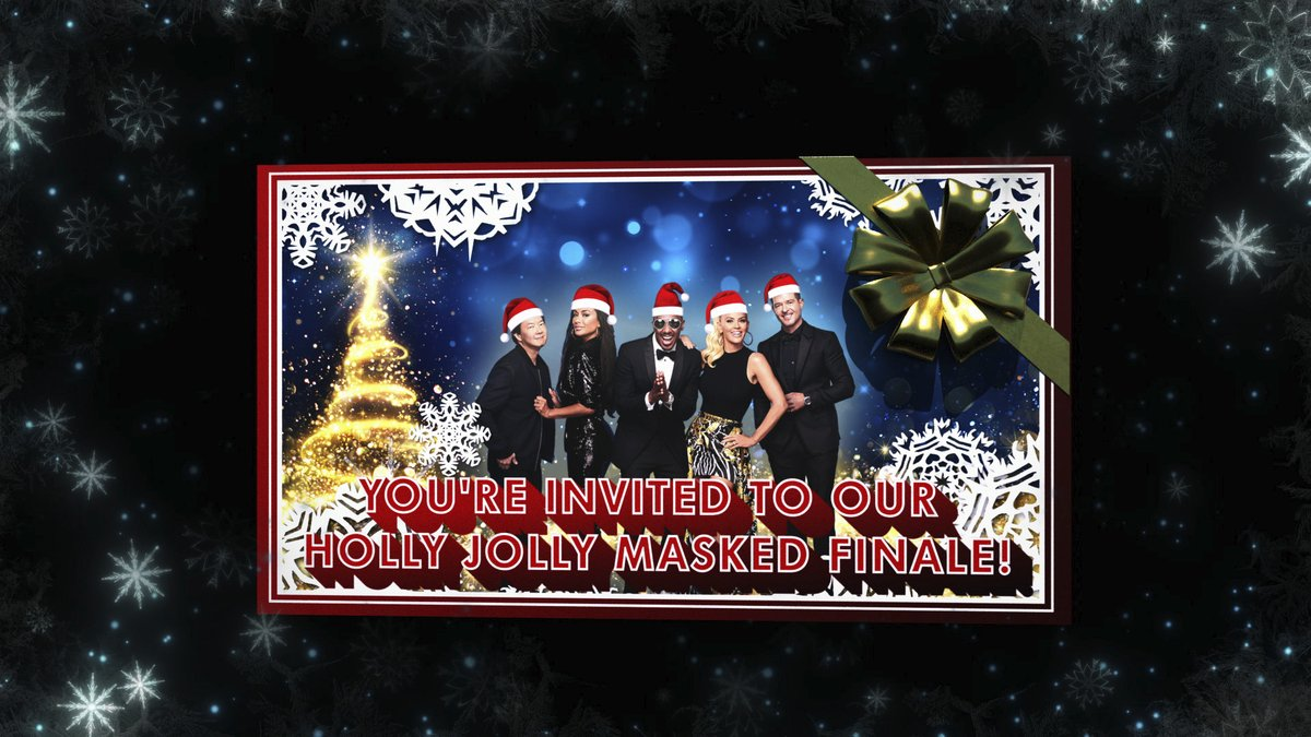 #TheMaskedSinger The Family Holiday Card.