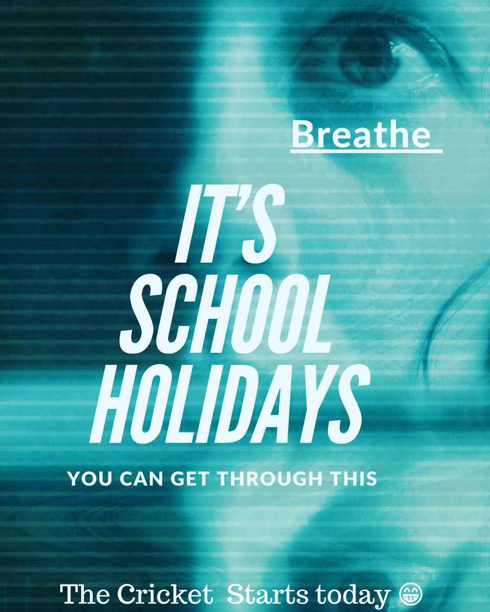 It's School Holiday Time! 😱Take this time to build a new schedule for the next few weeks. A chance to slow you down is a great way to not over respond. #mindyourmate #schoolholidays #parenting #breathe #fatherhood #yourhealth #kids #mums #kidsmemories #cricket #adelaide #1440