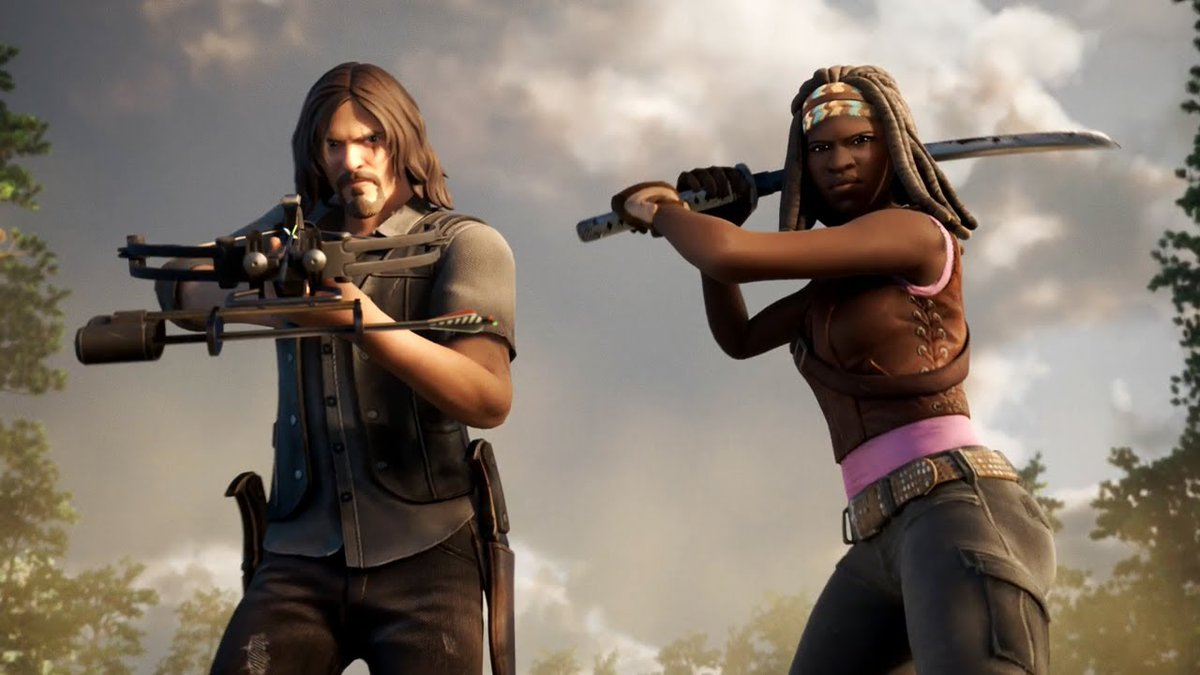 My brother @ItsRedFusion and I are giving away 2 #Fortnite Daryl and Michonne Skin Bundles   Rules:  1. Retweet and Like this Tweet. 2. Follow both of us on Twitter.  The 2 Winners will be chosen on Saturday 12/19 at 5:30 PM EST GOOD LUCK!  #Fortnite #WalkingDead #Giveaway https://t.co/fc4o5Ibtbr