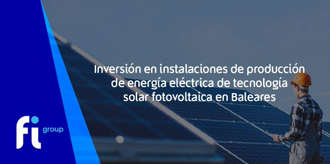 El  abre la ayuda «Instalaciones de producción de energía eléctrica de   en »Si tienes duda....